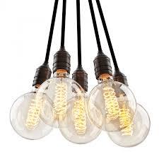 Rustikale Esszimmerlampen Pendelleuchte Vintage Bulb Holder Metall Bronze Schwarz
