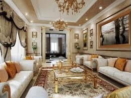 pretty gold color chandeliers use wall paintings ornaments