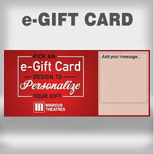 ecard gift card theatres personalized