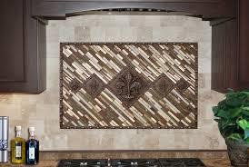 Backsplash Medallions Kitchen Landmark Metalcoat Metal Tile Mosaics Architectural Elements