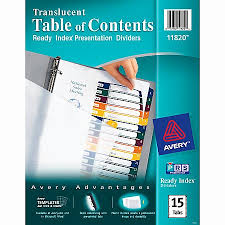 avery 15 tab table of contents color template avery 15 tab template beautiful unusual avery divider template