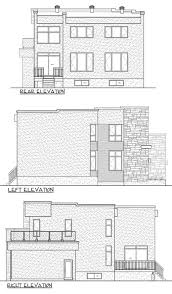 Farmhouse Elevations by Modern Style House Plan 3 Beds 2 50 Baths 2370 Sq Ft Plan 25 4415