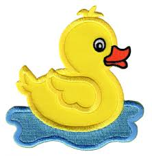 rubbery ducky iron on patch duck iron on applique patchmommy