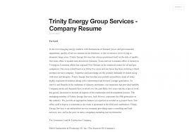 resume builder companies company resume examples stunning idea resume company 1 company trinity energy group services company resume visually resume company