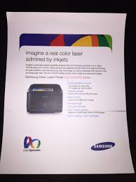 samsung clp 315 color laser printer makes horizontal smear super
