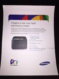 samsung clp 315 color laser printer makes horizontal smear super