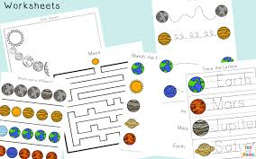 solar system printable worksheets and activities pack fun with mama