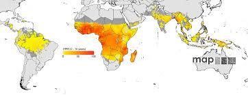 True Size World Map by Plos Medicine A World Malaria Map Plasmodium Falciparum