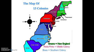 the thirteen colonies map 13 colonies map song
