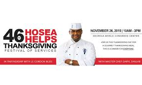 hosea feed the hungry thanksgiving dinner in its 46th year