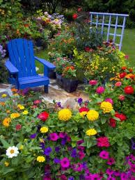 backyard flower garden with chair ideas of backyard flowers