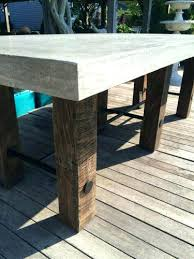 concrete wood table top concrete and wood coffee table macky co