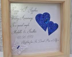 65th wedding anniversary gifts sapphire anniversary etsy