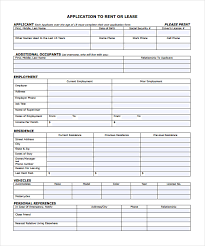 rent to own house contract form free application form for rental