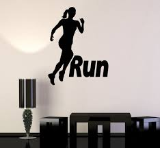 tennis wall decal boy personalized name stickers tennis player vinyl wall stickers run running girl woman sport motivation decal mural 187ig