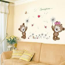 stickers pour chambre enfant zs autocollant brun ours wall sticker pour chambre d enfants home