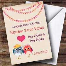 vow renewal cards congratulations personalised cards wedding day cards renewal of vows page 1