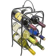 amazon com sorbus 6 bottle freestanding wine holder rack classic