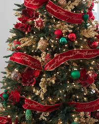 christmas tree with ribbon christmas ideas