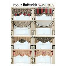 Drapery Patterns Professional Amazon Com Butterick Patterns B5582 Reversible Window Valance