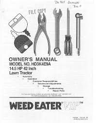 weed eater lawn mower hd3k4e9a user guide manualsonline com