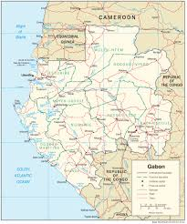 gabon in world map gabon maps perry castañeda map collection ut library