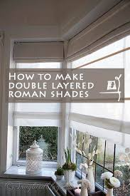 Instructions For Making A Roman Blind How To Make Double Layered Roman Blinds