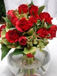 Red Vases And Bowls 627 Medium Red Rose U0026 Green Hydrangea Glass Fish Bowl Vase