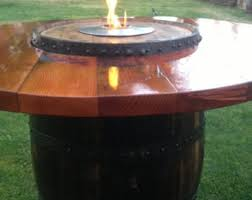 How To Make A Table Fire Pit - wine barrel fire pit etsy