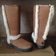 womens ugg boots size 12 ugg sunburst chestnut exposed wool sheepskin cold weather