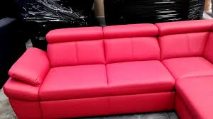 Red Corner Sofa by Red Corner Sofa With Storage And Reclining Headrests Youtube