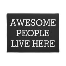 awesome people live here black funny doormat zazzle com