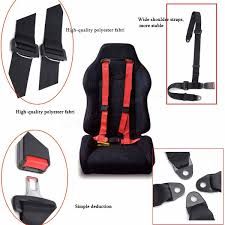 Car Seat Harness Replacement Sport Racing Car Harness Safety Seat Belt 3 4 Point Fixing