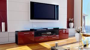 Tv Unit Interior Design Interior Design Led Tv Rukle White Floor With Black Sofa And Wall