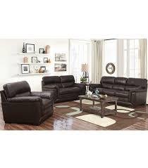 Wade Leather Sofa Living Room Sets Wade 3 Leather Set