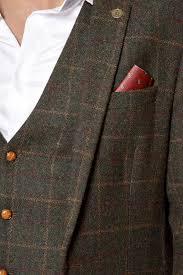 mens olive check blazer heritage tweed vintage henry