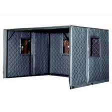 machine enclosures absorptive noise barrier quilted curtains