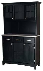 Black China Cabinet Hutch by Home Styles Furniture 3 Drawer Large Black Wood Buffet With
