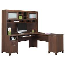 Home Office Double Desk by L Shaped White Polished Wooden Double Desk For Home Office With L
