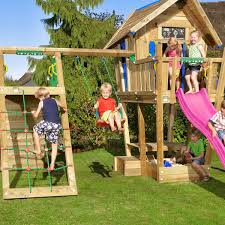 jungle gym wooden jungle crazy playhouse cxl with climb xtra module