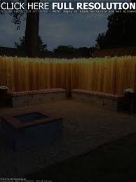 backyard fence lighting home outdoor decoration
