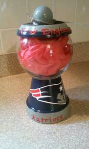 new england patriots inspired gumball machine style candy jar