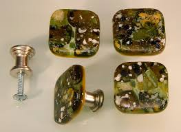 cabinet door knobs glass fused glass knobs u2013 greens mix akb16911a u2013 decorative colored art