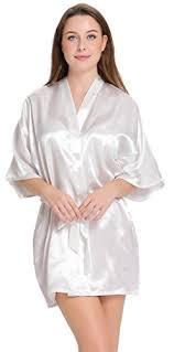 robe de chambre satin aibrou femme robe chemise de nuit satinée peignoir chambre kimono