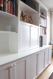White Built In Bookcases by Custom Built In U2014 57th Street Bookcase U0026 Cabinet