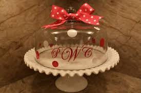 personalized cake plate sweet southern days a monogrammed cake stand