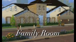 custom content decor challenge decorating the family room youtube