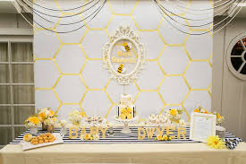 what will it bee baby shower bright yellow baby shower inspiration luxe linen