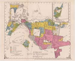 San Diego Downtown Map by Redlining San Diego 1936 1939