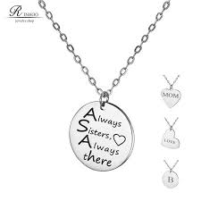 name engraved necklace engrave letters stainless steel customized necklace personalized
